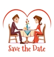 romantic date in vector image