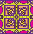 talavera oblana mexican seamless pattern vector image