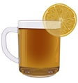 Lemon tea in glass cup vector image vector image