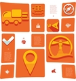 navigation flat infographic vector image