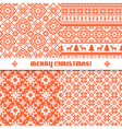 Set of knited Christmas patterns vector image
