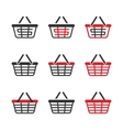 Shopping Basket Icon Set vector image vector image