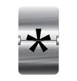 Alphabet silver flipboard letters star vector image vector image