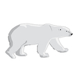 polar bear isolated on a white background vector image