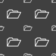 Folder icon sign Seamless pattern on a gray vector image