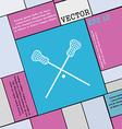 Lacrosse Sticks crossed icon sign Modern flat vector image