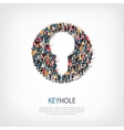 keyhole people sign vector image