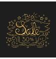 Big Sale Golden Lettering Design Black Friday vector image