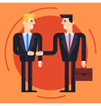 Businessmen shaking each other hands vector image