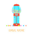 cartoon gumball machine vector image