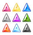 Colourful Triangle Diamonds vector image