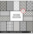 Elegant seamless patterns vector image