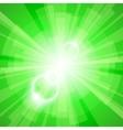 Green Light Background vector image