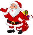 Happy Santa with sack vector image