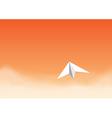 paper plane orangeth vector image