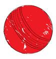 retro cricket ball vector image
