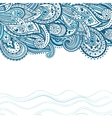 Abstract paisley background vector image vector image