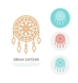 Dream catcher  Modern line icon of vector image