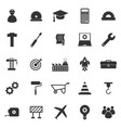 engineering icons on white background vector image