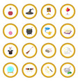 magic cartoon icon circle vector image