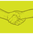 Shaking hands vector image vector image
