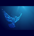 wireframe peace dove sign mesh from a starry on vector image