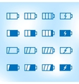 Thin Icon Set Battery Charge Level vector image vector image