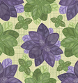 seamless texture of leaf basil vector image vector image