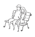 couple on chair vector image