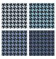 Houndstooth tile blue and black pattern set vector image