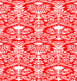 Red and white Seamless abstract background vector image
