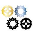 metallic gears vector image