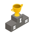 Gold cup winner isometric 3d icon vector image