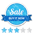 Sale retro label vector image vector image