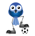 BIRDS SOCCER PLAYER BLUE vector image