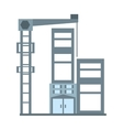 building elevator construction structure vector image