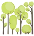 Cartoon Watercolor Trees Set vector image
