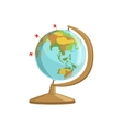 Globe With Flag Markings vector image
