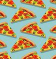 Isometric Pizza seamless pattern Italian food vector image