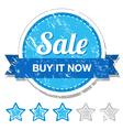 Sale retro label vector image