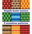 set argyle seamless texture vector image