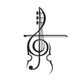 violin and treble clef vector image