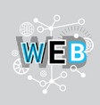 web internet connection banner abstract template vector image