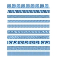 Set of border decoration elements seamless vector image