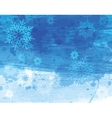 Blue christmas watercolor background vector image