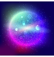 Bright glowing ball filled with particles and dust vector image