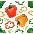 seamless vegetable background with red green and vector image vector image