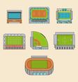Set of sport stadiums building vector image