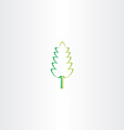 stylized green eco leaf icon design vector image
