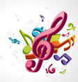 treble clef music vector image vector image
